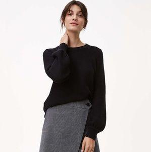 Loft sweater blouse black medium